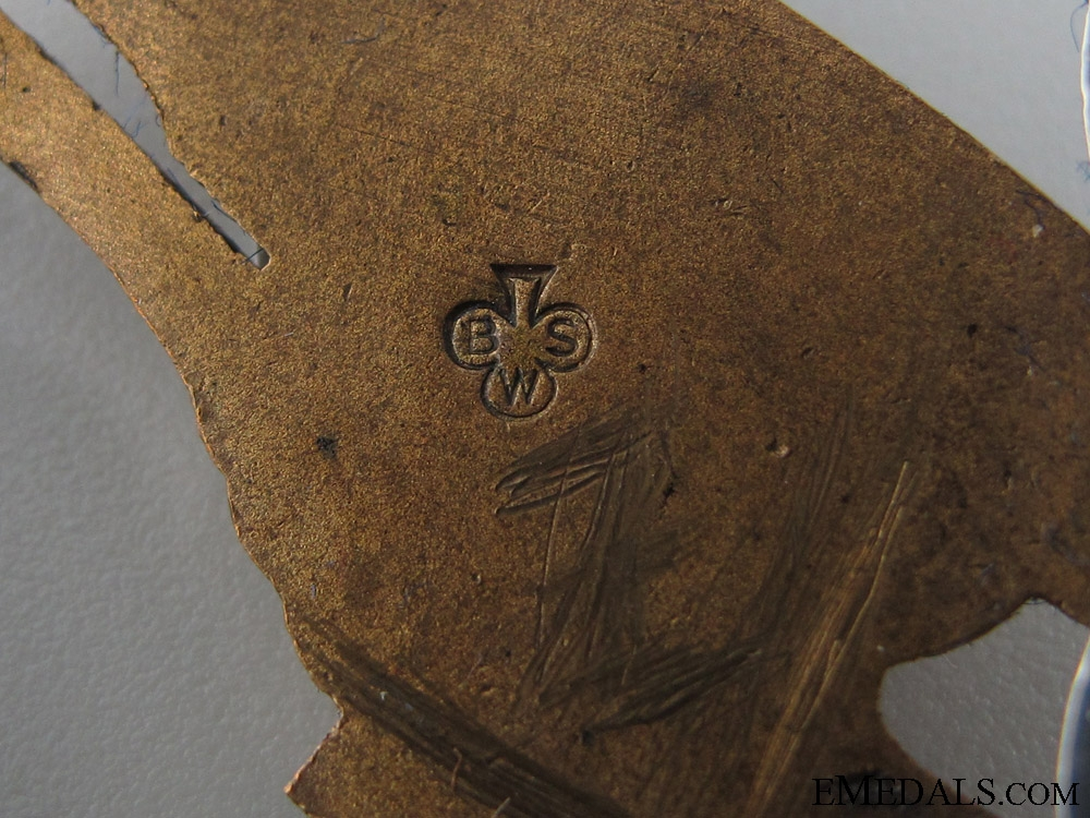 A Cased Paratrooper Badge by BSW