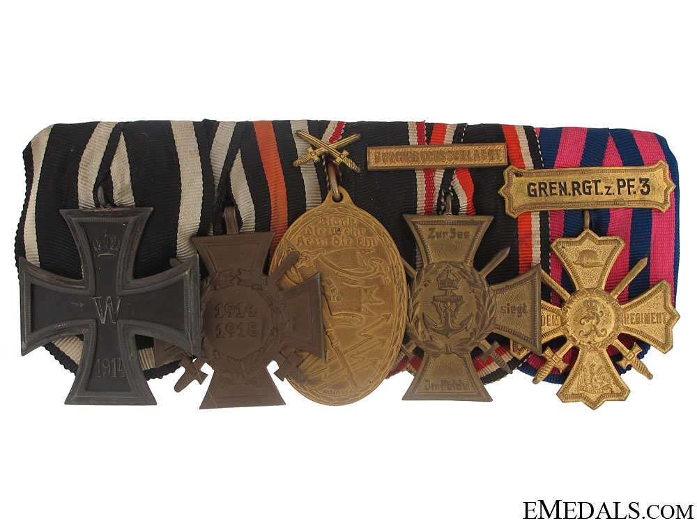 Imperial Medal Bar with Five Awards