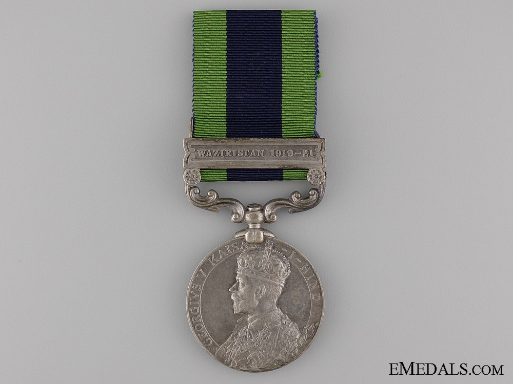 India General Service Medal to the 25th Punjabis
