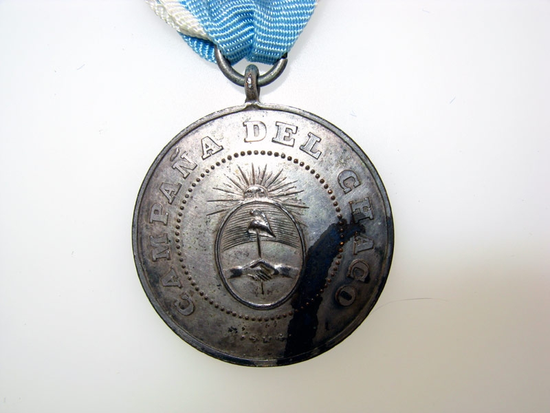 """Argentina, """"Chaco"""" Campaign Medal 1870-85,"""