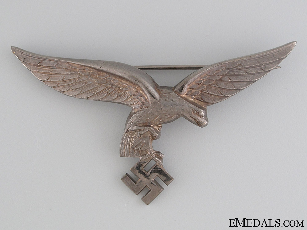 Luftwaffe Officer's Breast Eagle for White Tunic