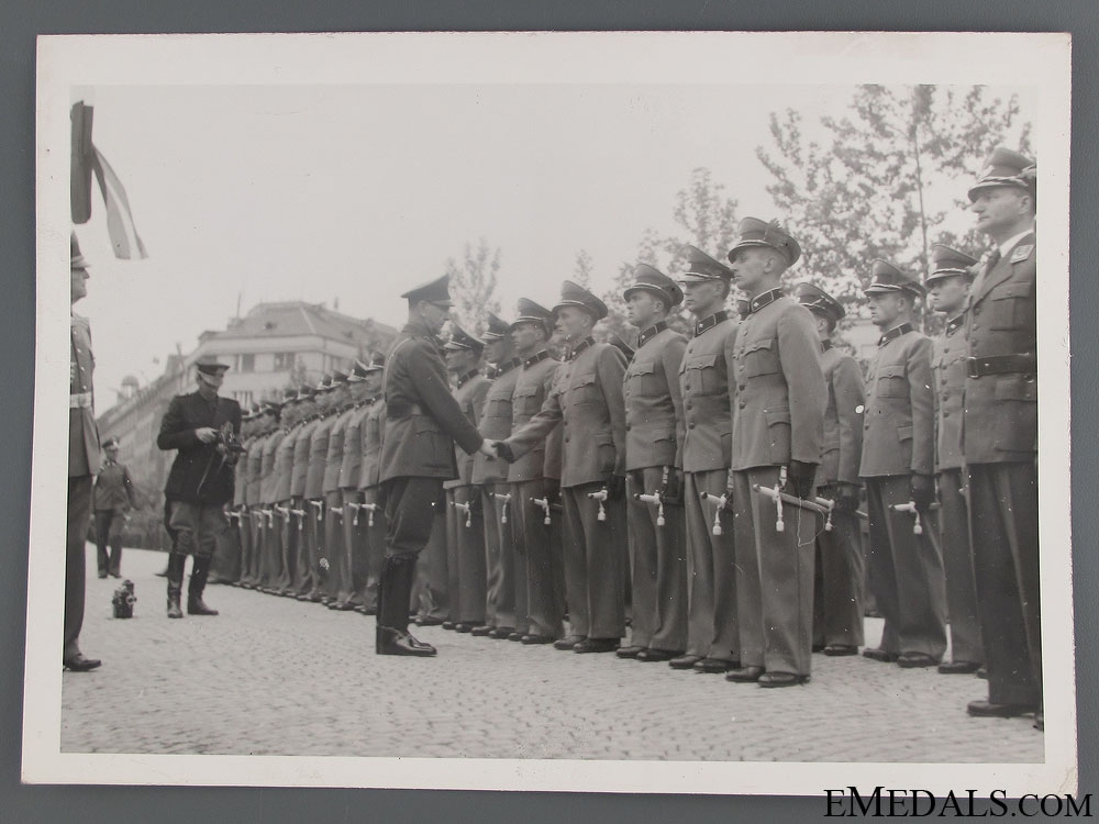 Official Press Photo of Pavelic Visiting Officers