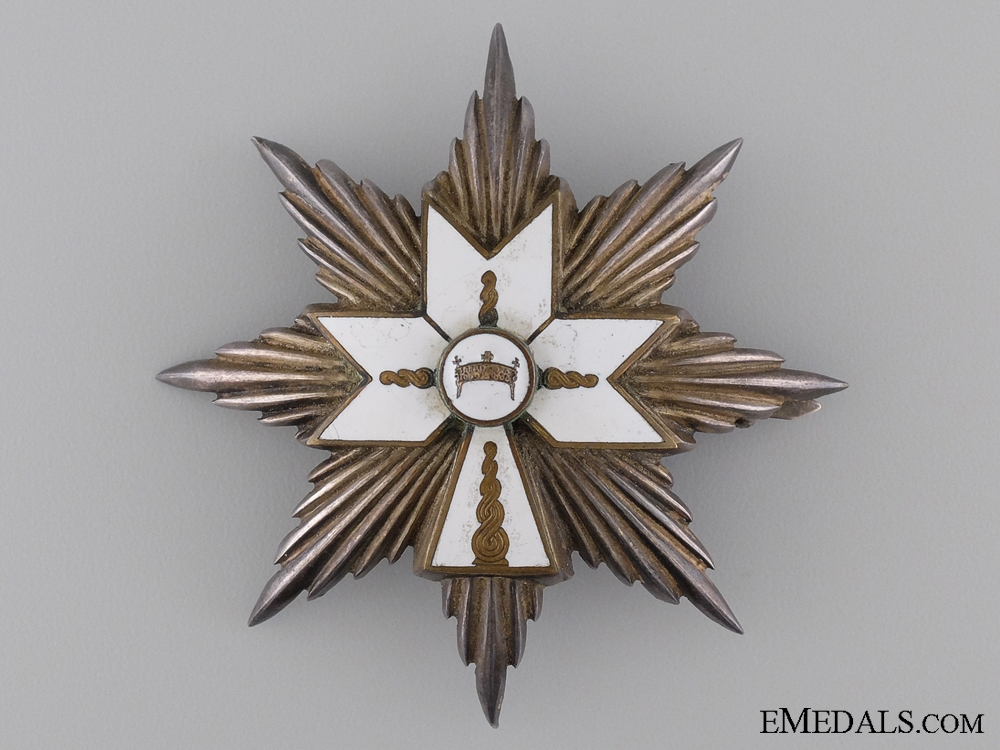 Order of the Crown of King Zvonimir; First Class Grand Officer Breast Star