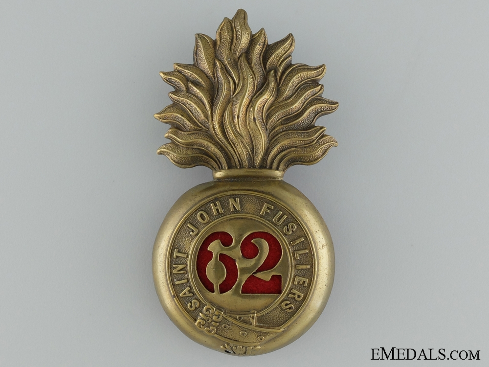 Pre-WWI 62nd Regiment Saint John Fusiliers Cap badge
