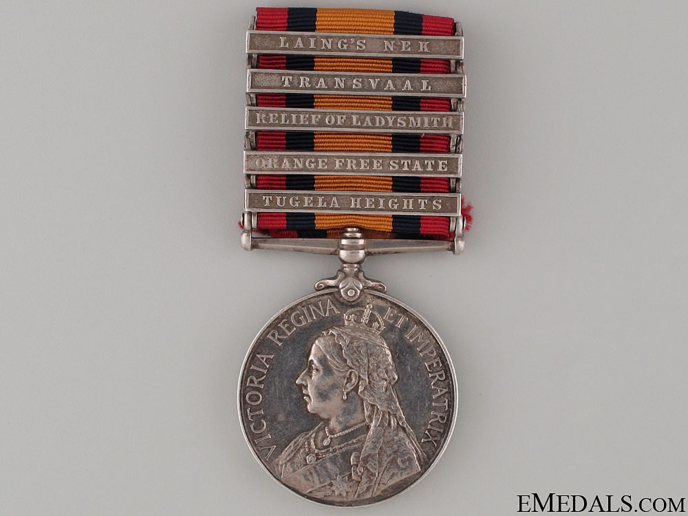 Queen's South Africa Medal - Middlesex Regt