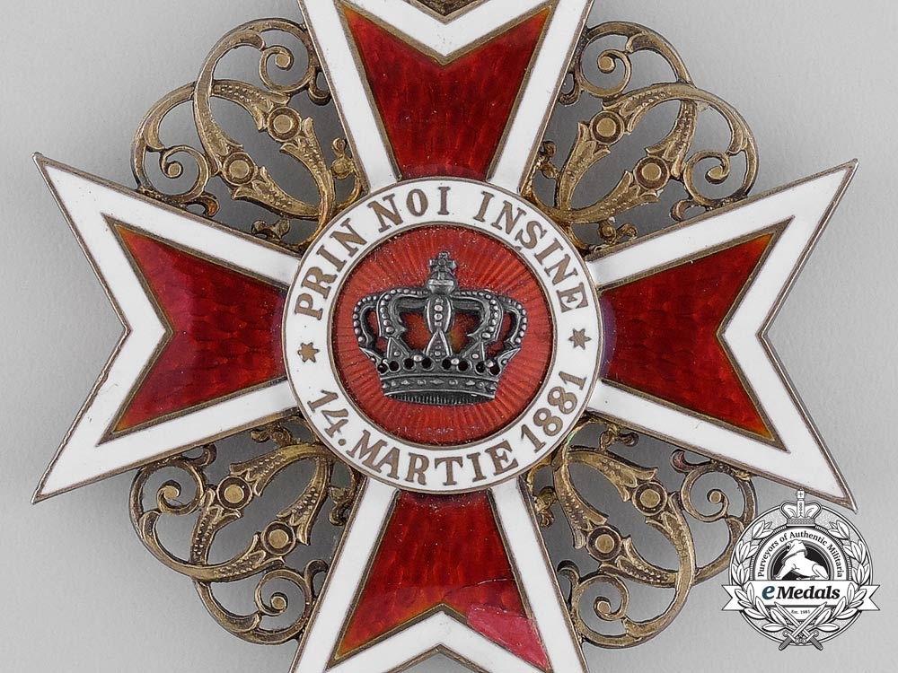 A 1910 Romanian Order of the Crown; Grand Cross, Type I