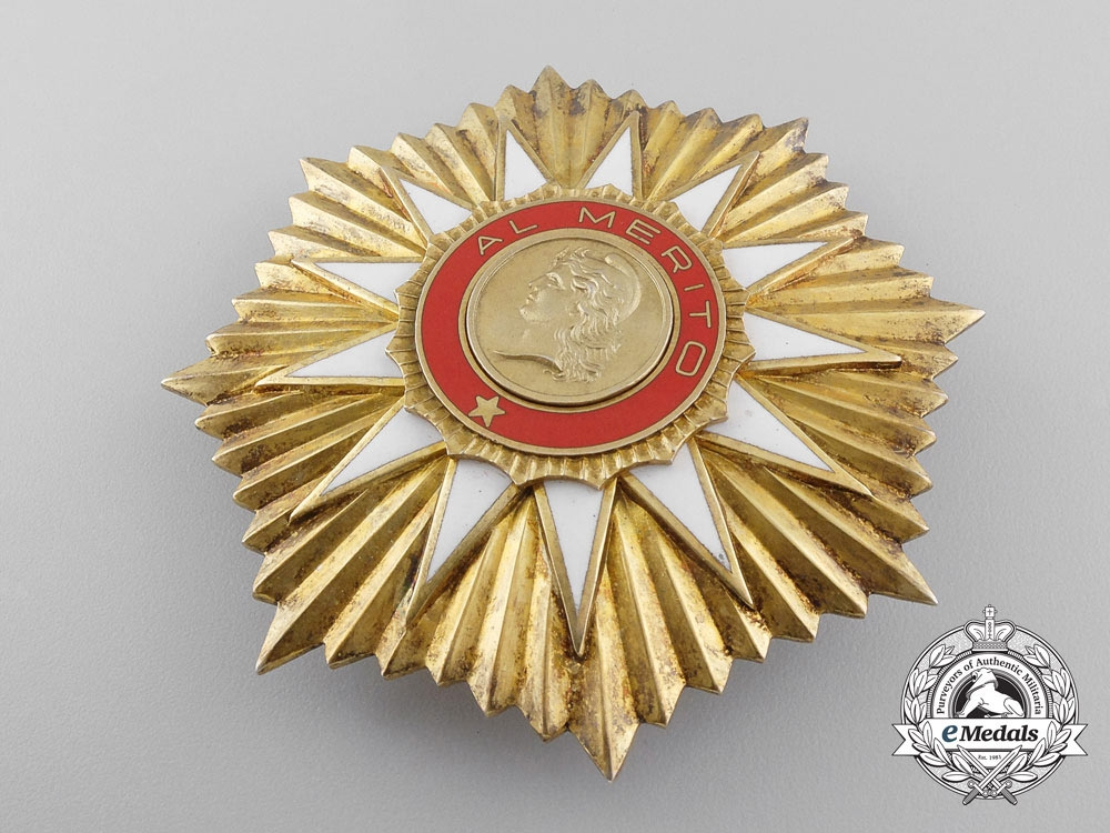 An Argentinian Order of May; Grand Cross