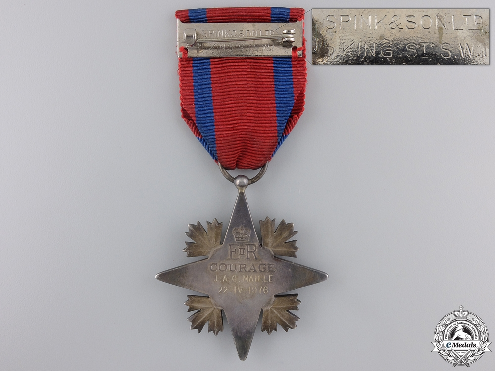A Canadian Star of Courage to J.A.G. Maille3850