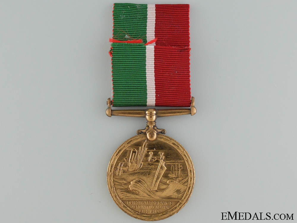 A WWI Mercantile Marine War Medal to Harry Sellick