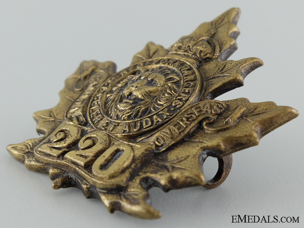 "WWI 220th Infantry Battalion ""York Rangers"" Cap Badge"