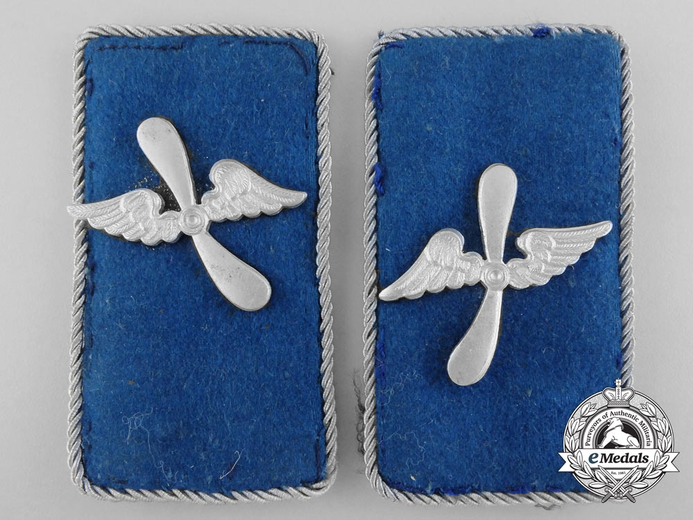 A WWII NSFK National Socialist Flyers Corps Collar Tab Pair