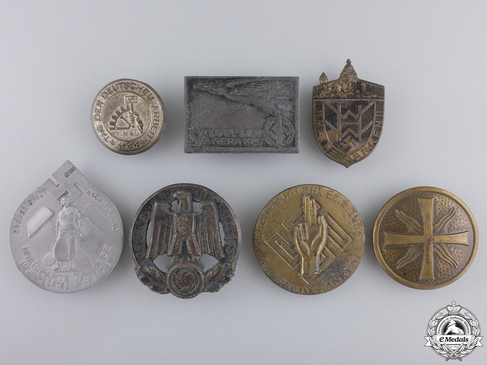 Seven Second War German Badges and Tinnies;