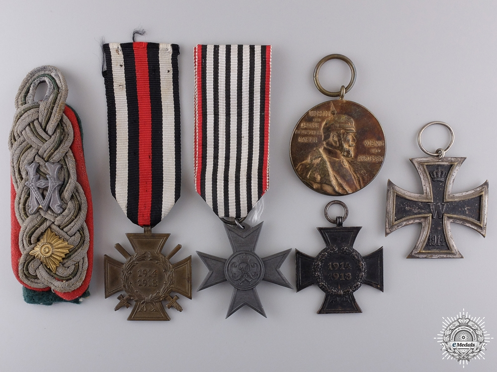 Six First War Period German Awards, Insignia, and Medals