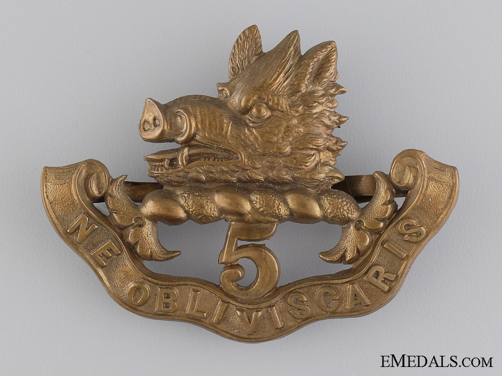 The 5th Regiment Royal Scots of Canada Glengarry Badge; 1900