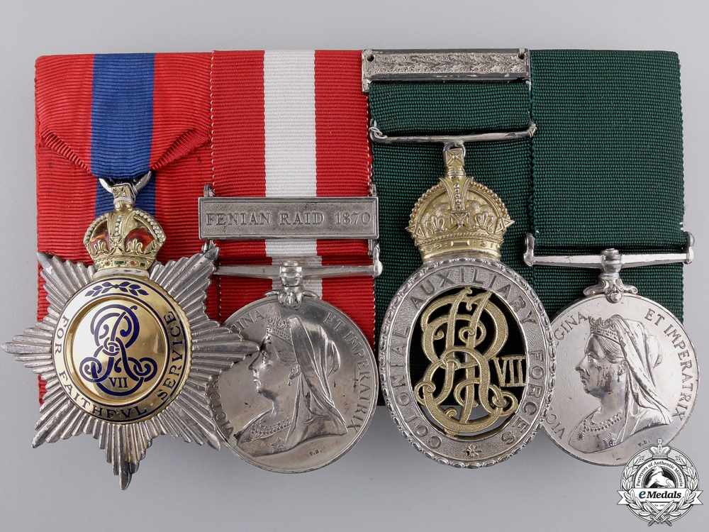 The Awards of Lieutenant Colonel A.L.F. Jarvis; Governor General's Foot Guards