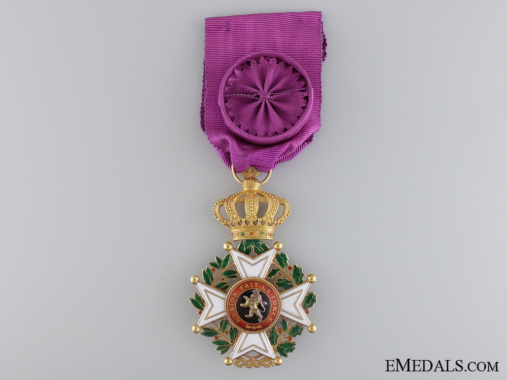The Belgian Order of Leopold in Gold; Civil Division