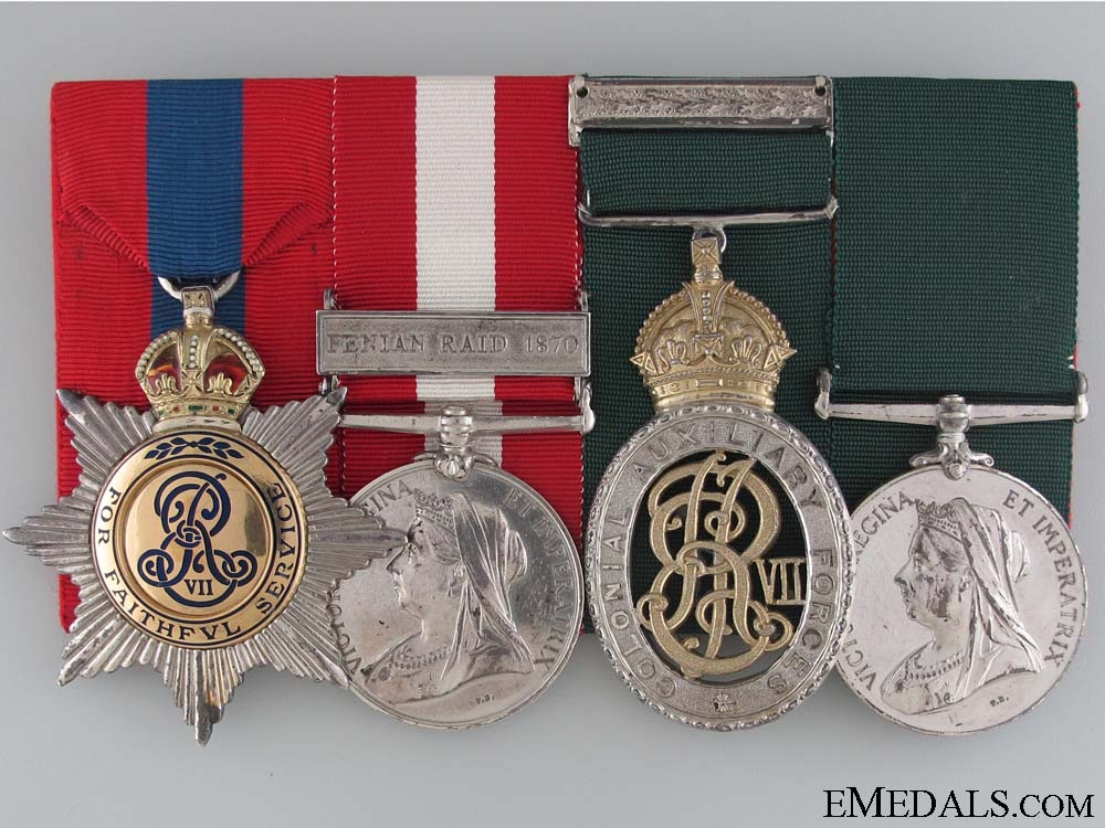 The Medal Bar of Lieutenant Colonel A.L.F. Jarvis