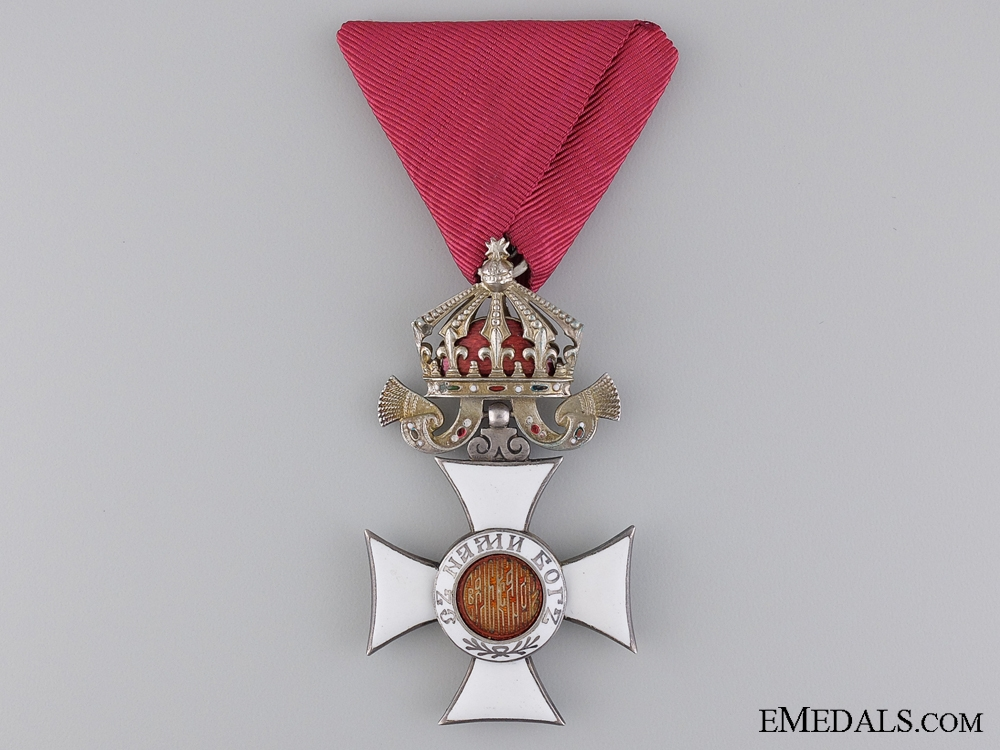 The Order of St. Alexander; 5th Class Knight with Imperial Crown