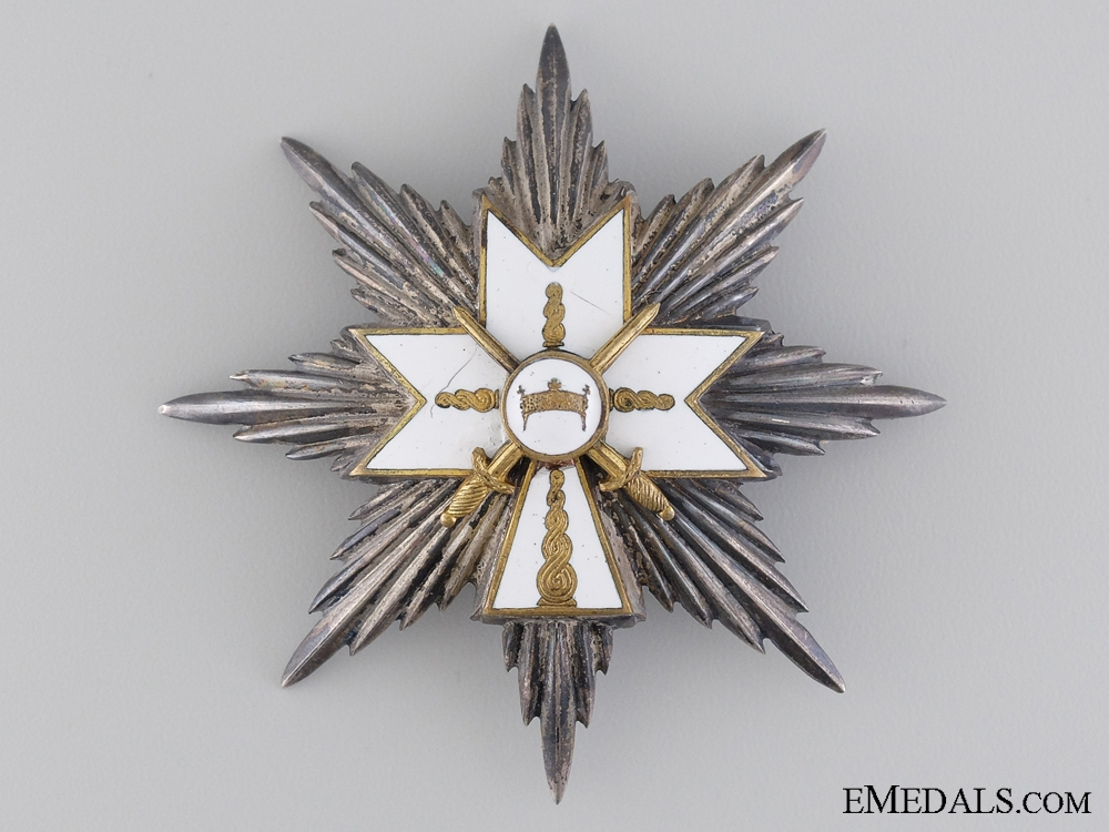 The Order of the Crown of King Zvonimir; First Class Grand Officer Breast Star