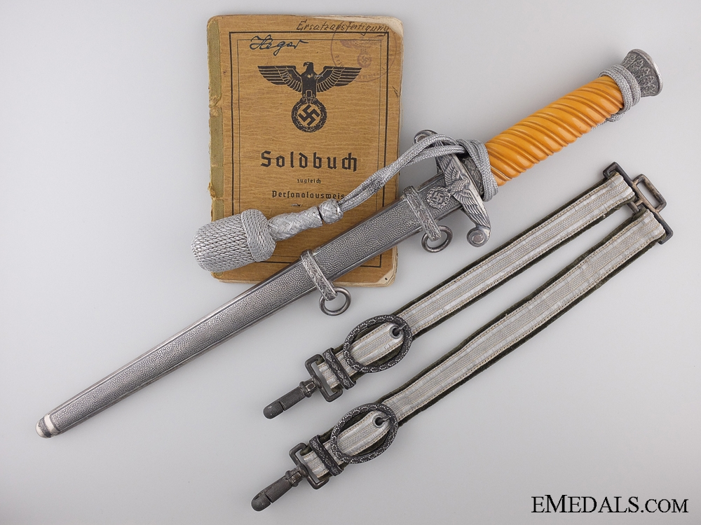 The Soldbuch & Army Dagger of Victor Heger; Panzer Recon.