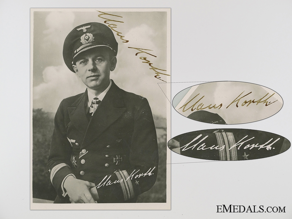 The Wartime Signature of U-Boat Ace Kapitänleutnant Claus Korth