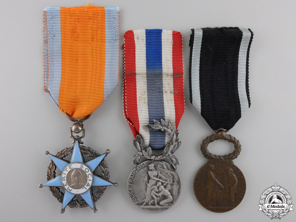Three French Orders, Medals, and Awards