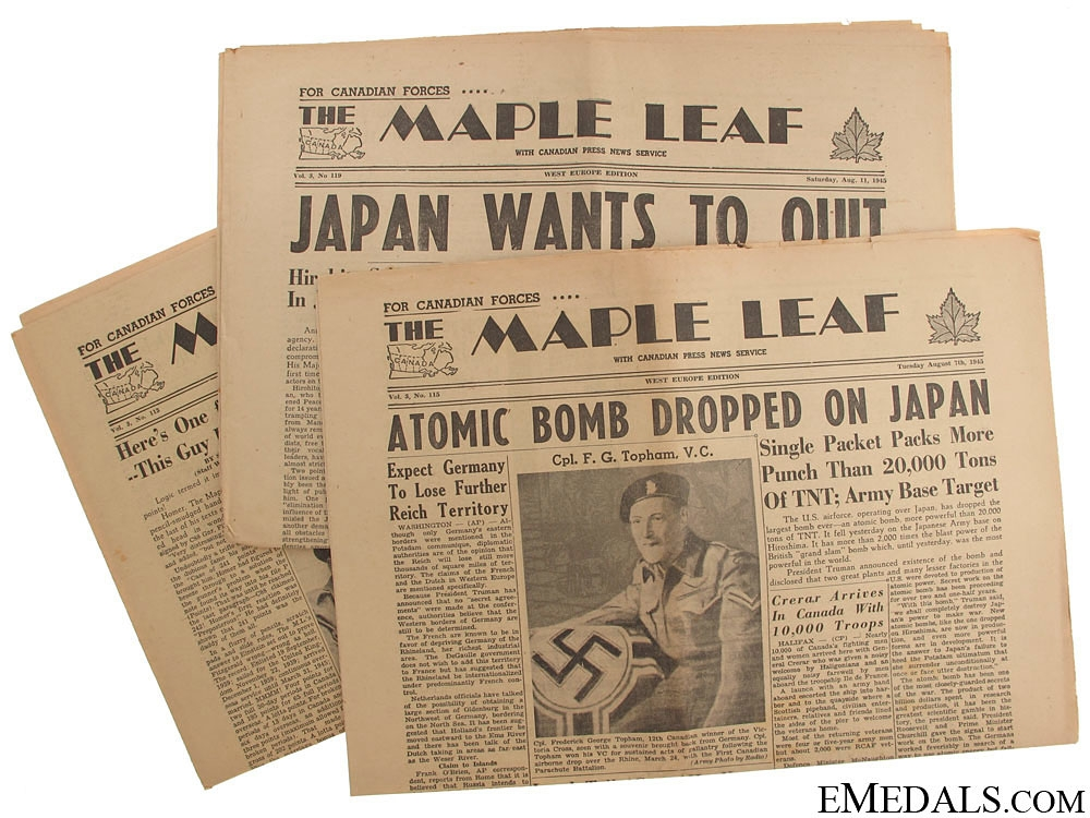 Three Issues of The Maple Leaf