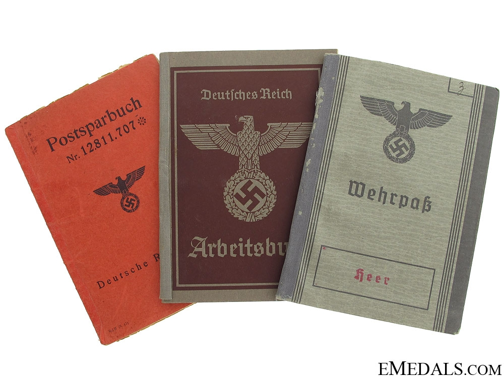 Three Pieces of WWII German Identification