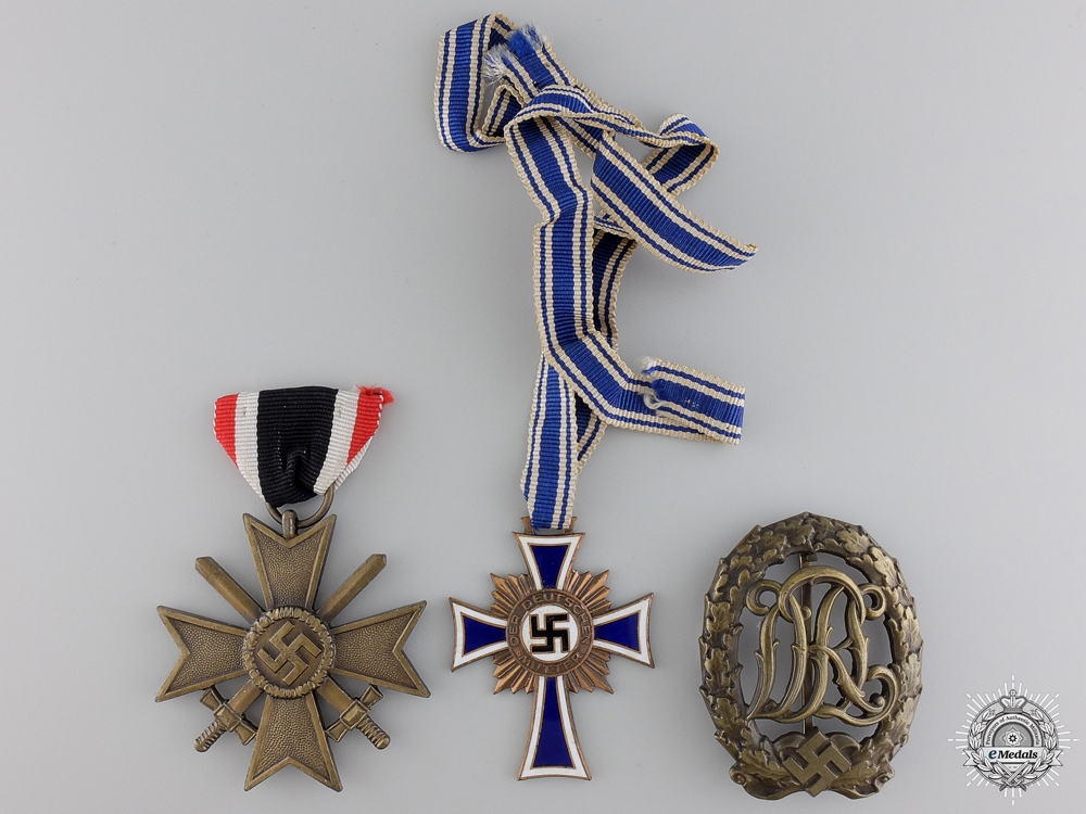 Three Second War German Medals, Awards, and Badges