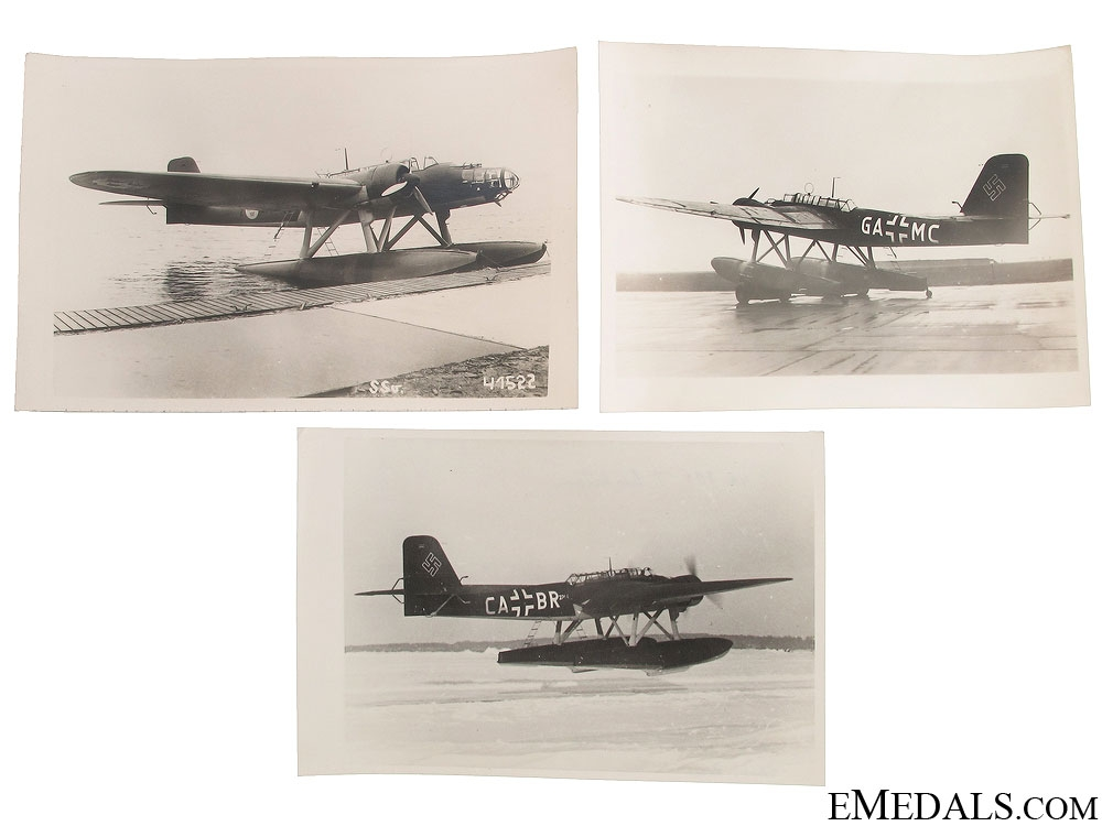 Three WWII German Seaplane Photographs