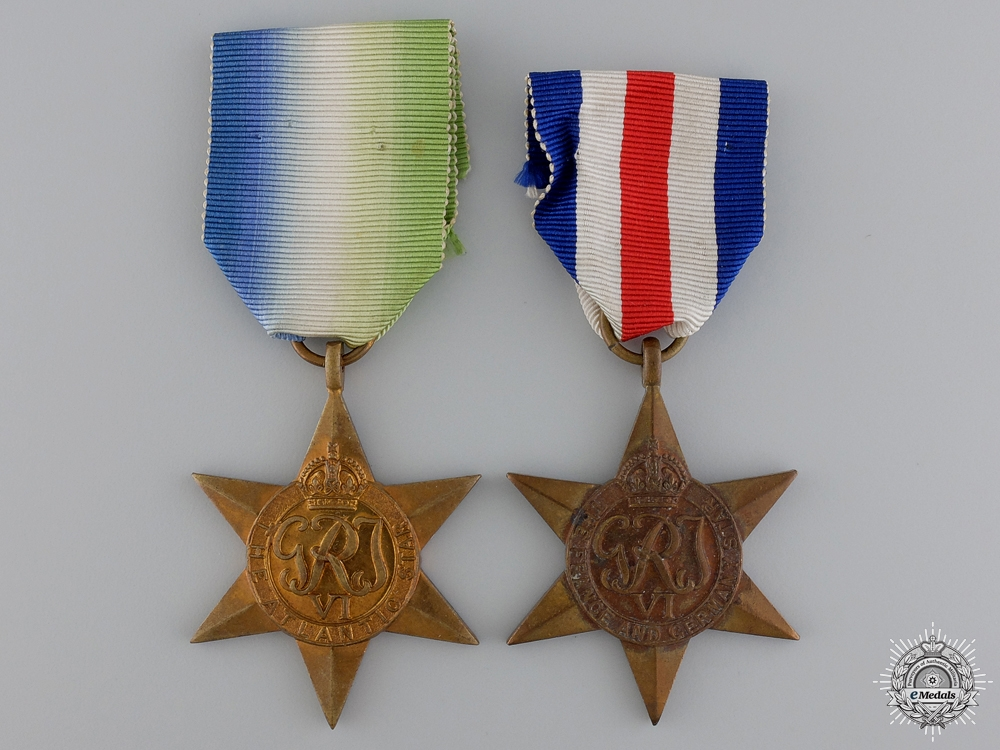 Two British Second War Campaign Stars