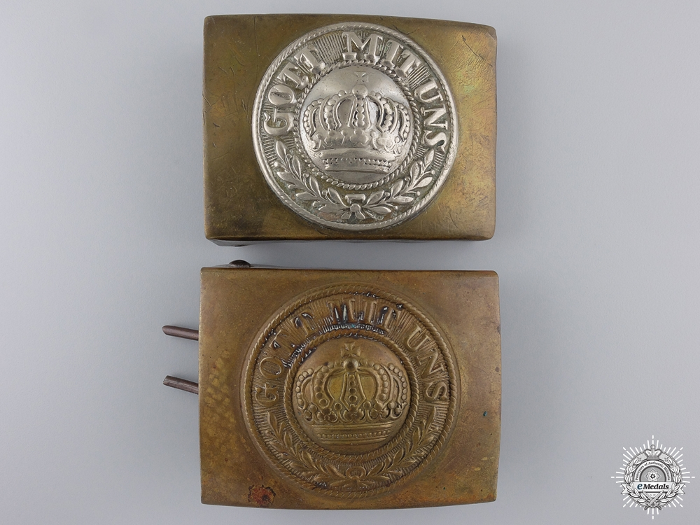 Two First War German Imperial Army Belt Buckles