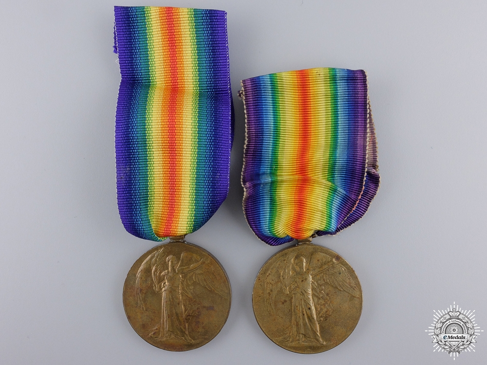 Two First War Victory Medals to the Royal Artillery