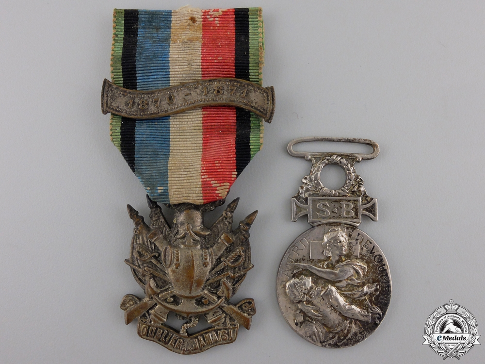 Two French Franco-Prussian Medals