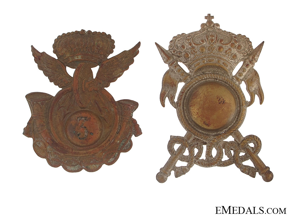 Two Italian Army Badges
