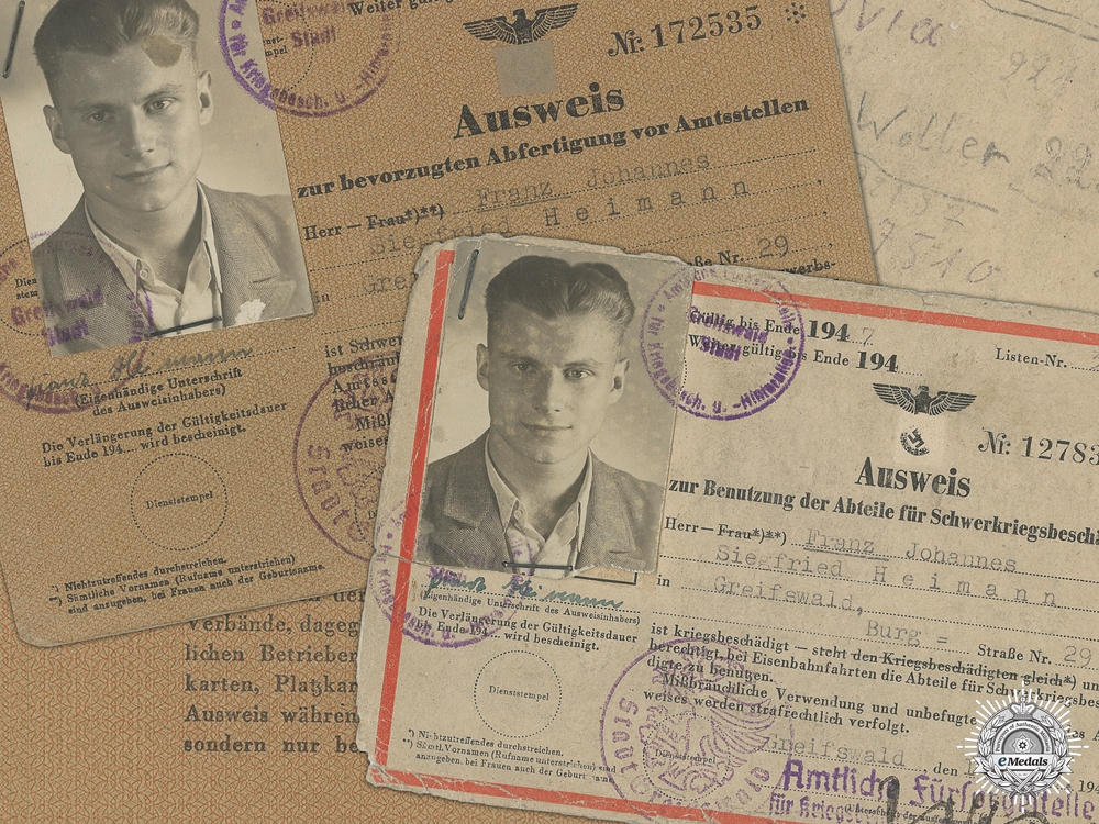 Two Pieces of German War Casualty Identification