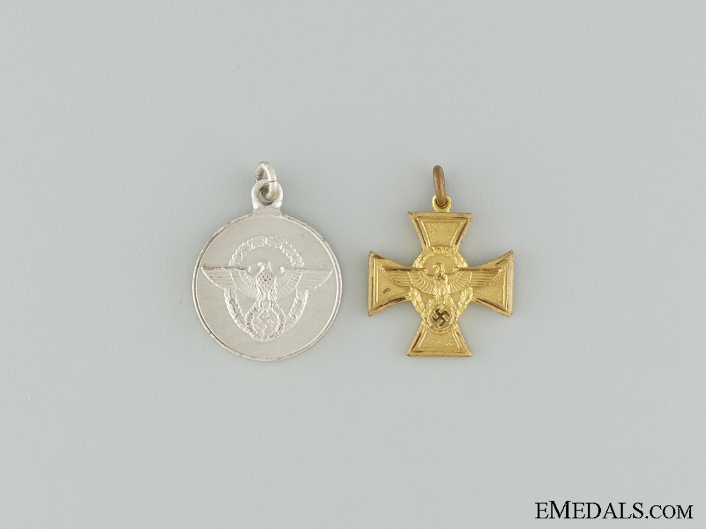 Two Police Miniature Medals