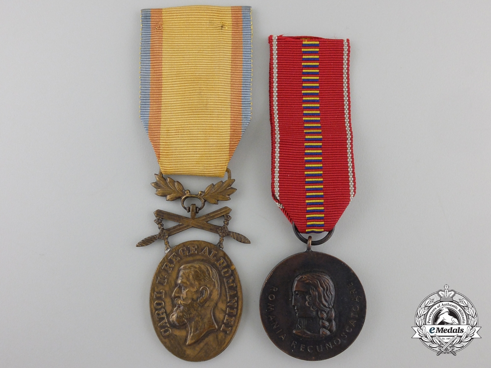 Two Romanian Medals & Awards
