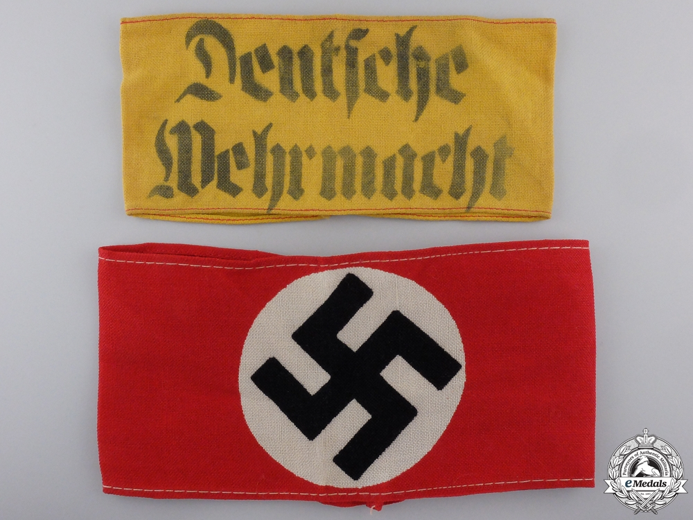 Two Second War German Armbands