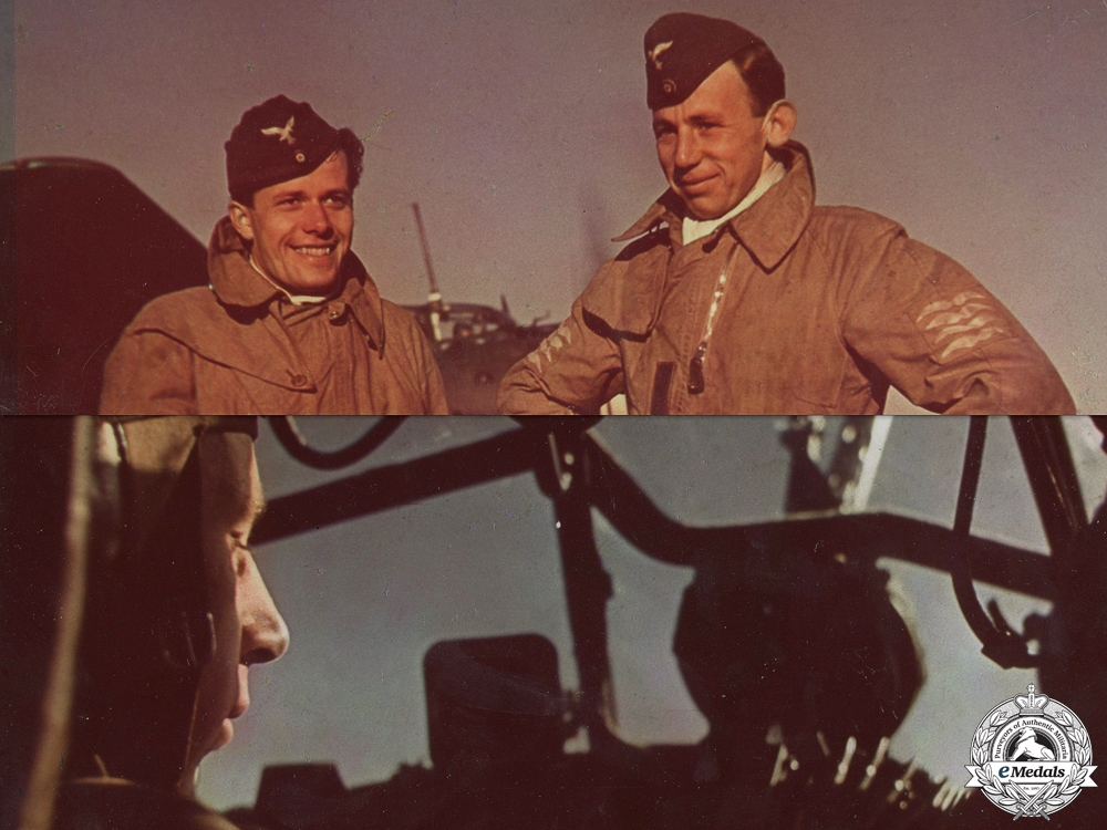 Two Large Second War Period Colour Luftwaffe Photographs