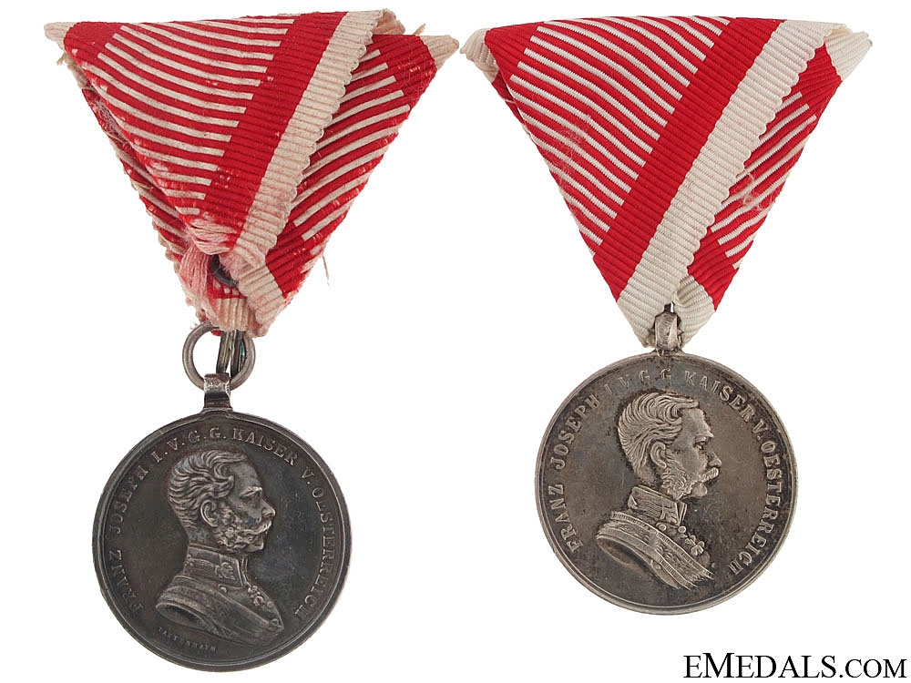 Two Silver Bravery Medals