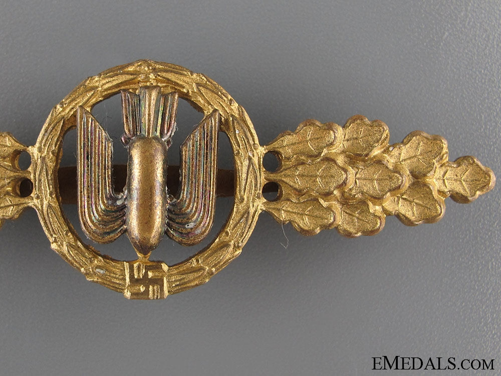 Squadron Clasp for Bomber Pilots- Gold