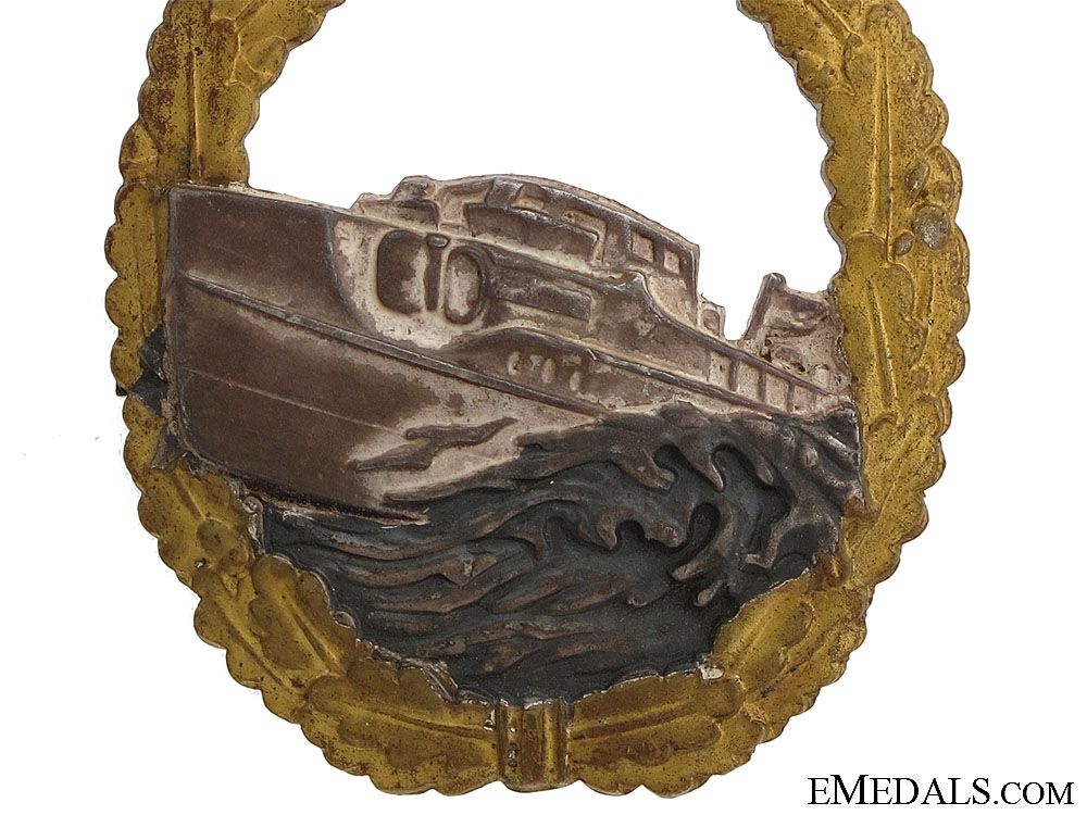 A First Version E-Boat Badge by Schwerin