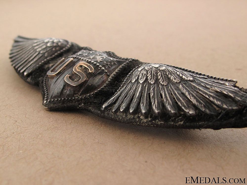 WWI US Air Service Pilot Wing, Dallas Type, by BB&B
