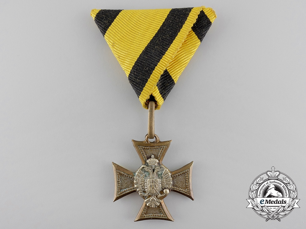 An 1867-1890 Austrian Long Service Cross with Mother of Pearl