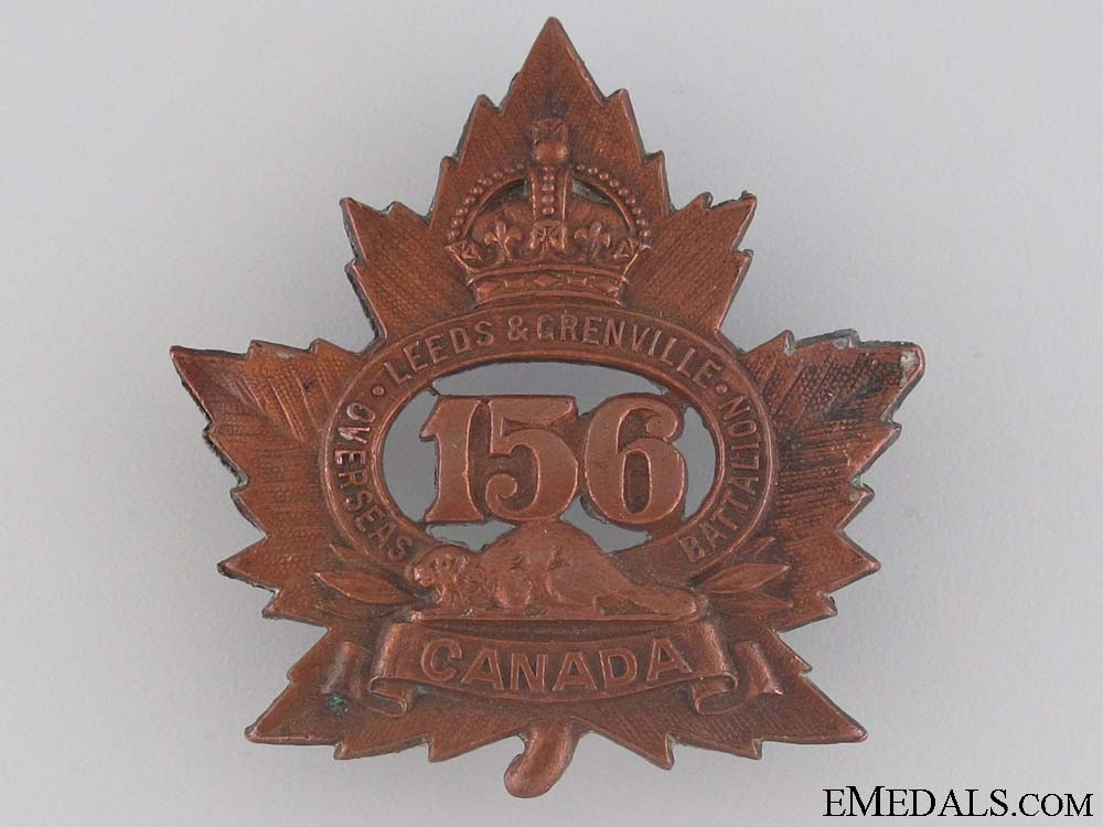 WWI 156th Infantry Battalion Cap Badge CEF
