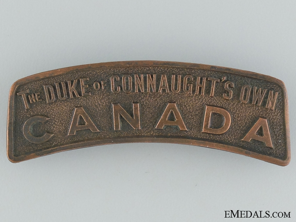 "WWI 158th ""Duke of Connaught's Own"" Shoulder Title"