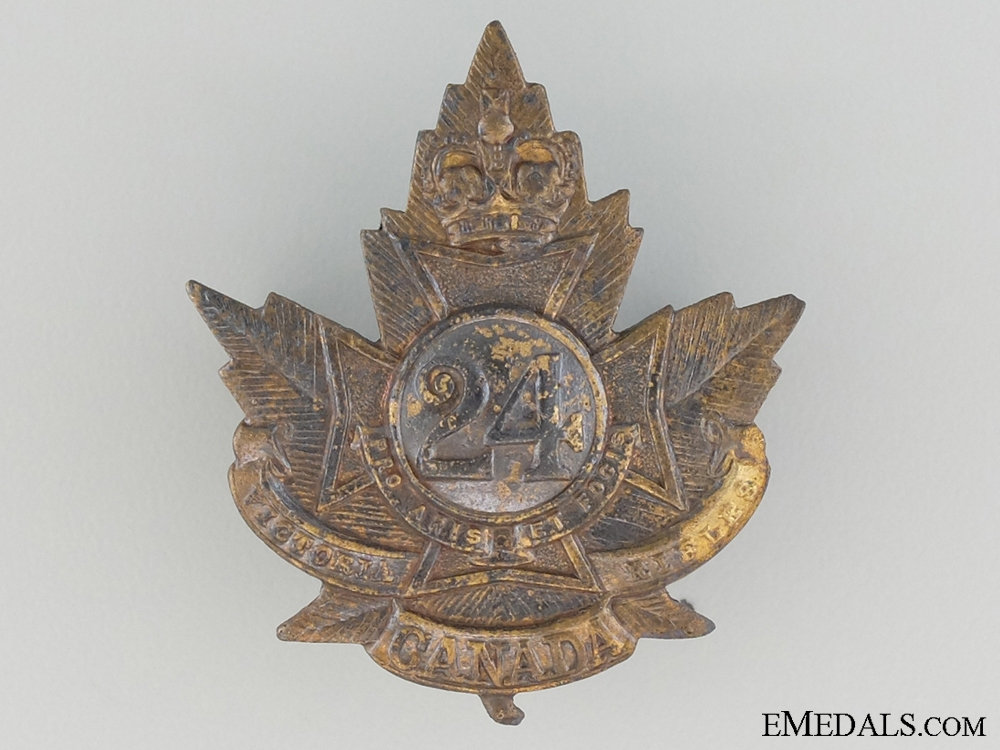 WWI 24th Infantry Battalion Officer's Collar Badge