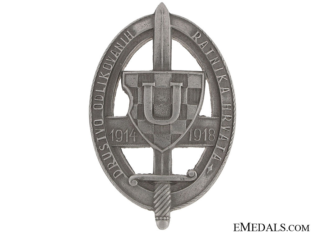 WWI Badge of the League of Awarded Soldiers