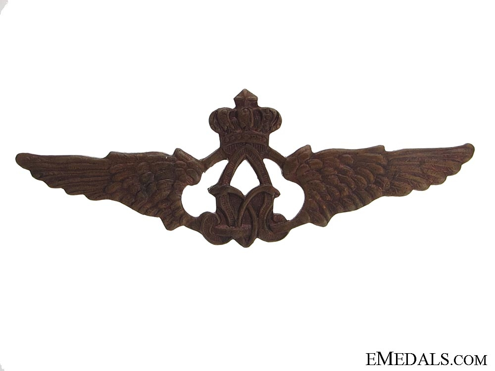 WWI Belgian Pilot's Side Cap Wings 1915-1917